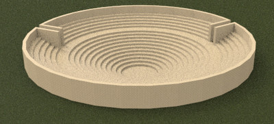 3D model of Circular Building at Paestum (first reconstruction hypothesis)