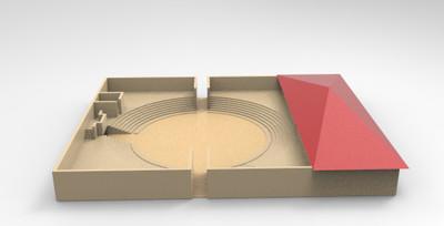 3D model of Comitium at Paestum