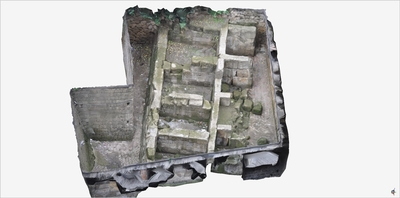 Images of 3D model of Greek Walls of Naples (Piazza Bellini)