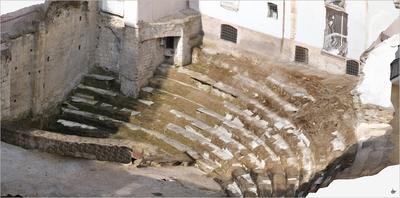 Images of 3D model of Cavea of Roman Theatre of Naples