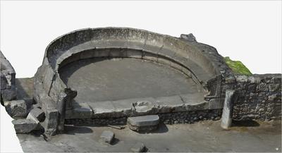Images of 3D model of Tomb of Mamia (Pompeii Porta Ercolano)