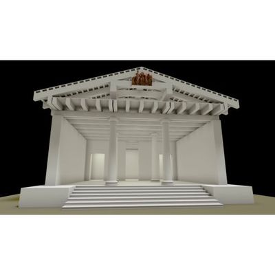 Luni Temple - Video of Temple and Pediment A