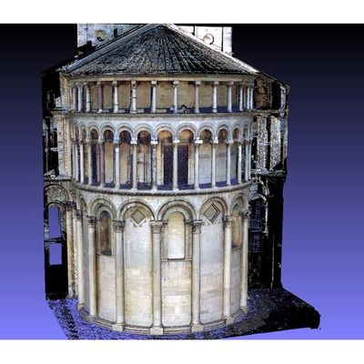 Pisa Cathedral - Apse colored 3D model