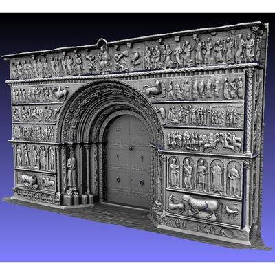 Portalada de Ripoll - Time-of-Flight 3D model