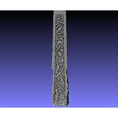 Ruthwell Cross - Detail left-side Runes 3D model