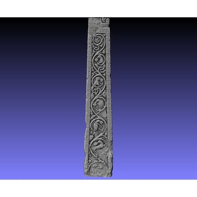 Ruthwell Cross - Detail right-side Runes 3D model
