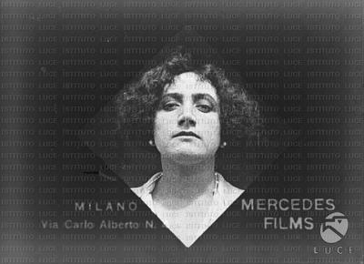Un'attrice degli anni del cinema muto