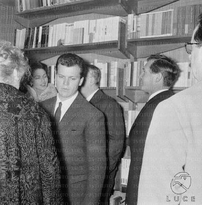 Roma Il compositore e critico musicale Roman Vlad alla presentazione del libro di Cesare Brandi 'Pellegrino di Puglia'