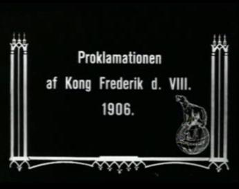 Kong Frederik VIII's Proklamation