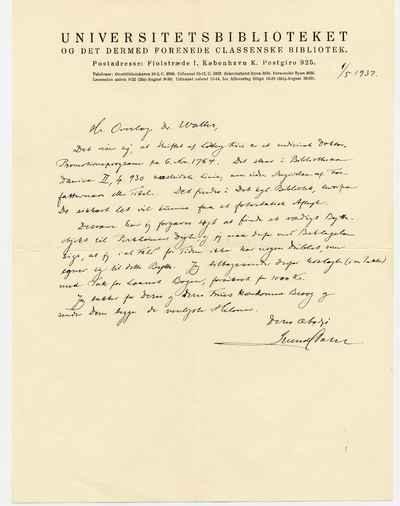 [Letter] 1937-05-01, København
