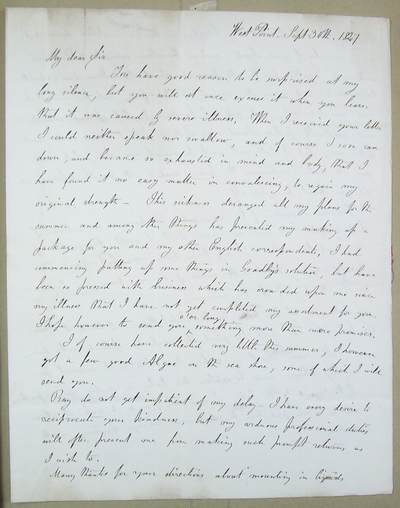 [Letter] 1847-09-30, West Point, NY