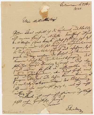 [Letter] 1830-10-16, Berlin [to] Karl Friedrich Philipp von Martius [to] Theodor Wilhelm Christian Martius