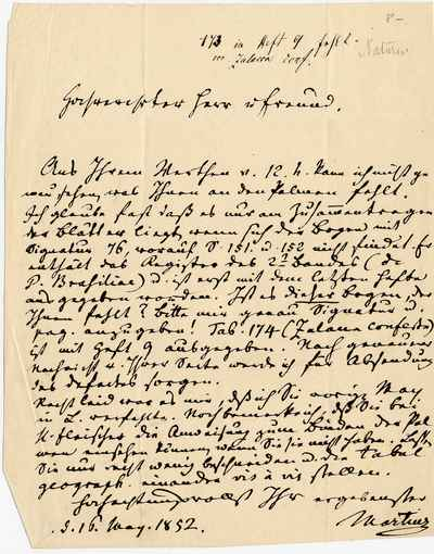 [Letter] 1852-05-16, München