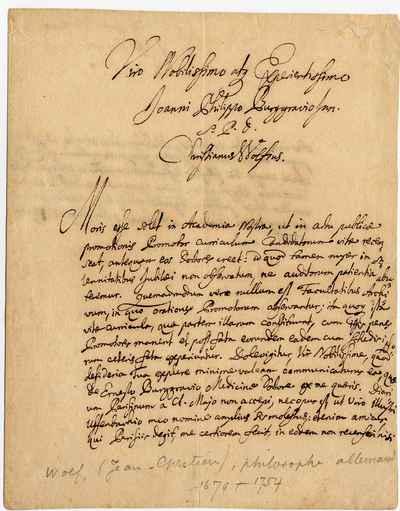 [Letter] 1728-01-18, Marburg