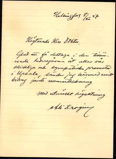 [Letter] 1927-12-08, Helsingfors