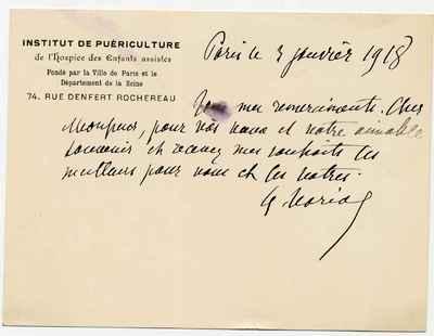[Letter] 1918-01-03, Paris