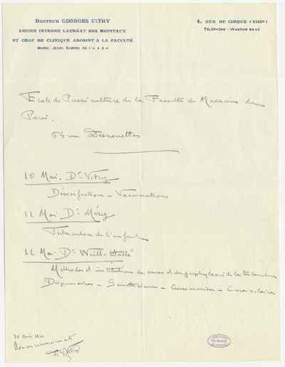 [Letter] 1920-05, Paris