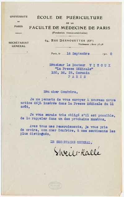 [Letter] 1920-09-18, Paris