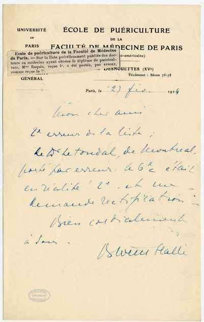 [Letter] 1924-02-27, Paris