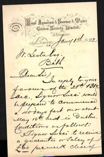 [Letter] 1892-01-01, London