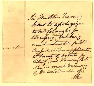 [Letter] 1833-05-25 [to] Dominic Paul Colnaghi [to] Martin Henry Lewis Gaetano Colnaghi
