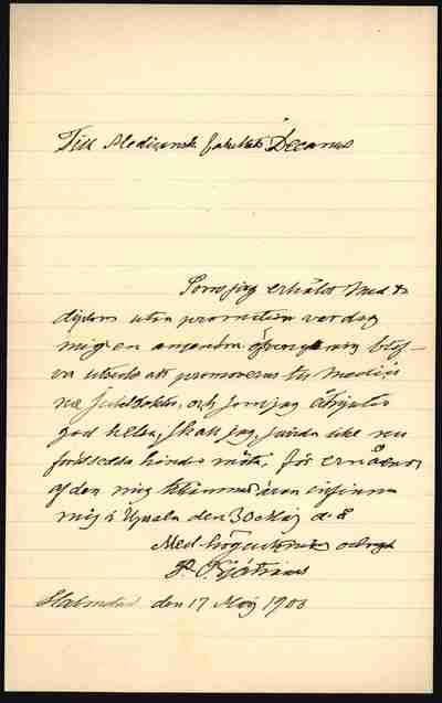 [Letter] 1900-05-17, Halmstad
