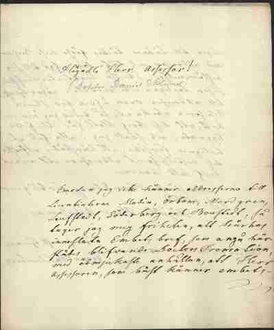 [Letter] 1835-02-18, Uppsala [to] Daniel Ekelund