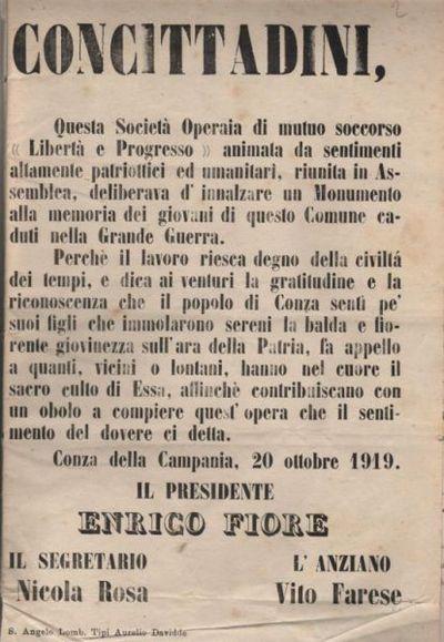"""Concittadini / Società Operaia di mutuo soccorso """"Libertà e Progresso"""""""