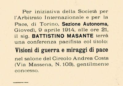 Per iniziativa della Società per l'Arbitrato internazionale e per la pace, di Torino, sezione autonoma ...