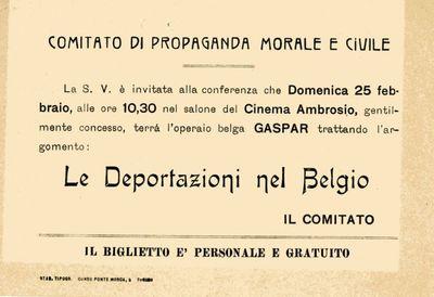 Le deportazioni nel Belgio