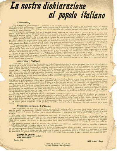 La nostra dichiarazione al popolo italiano
