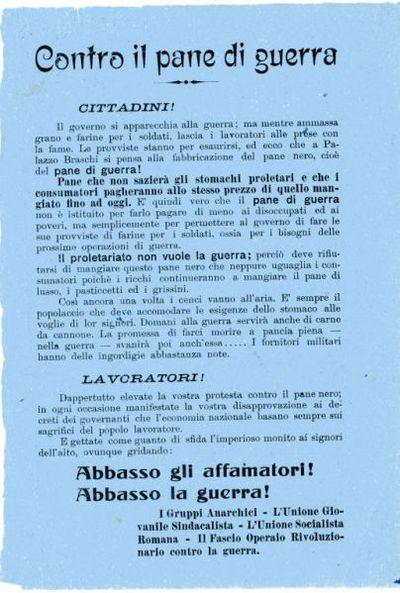 Contro il pane di guerra / Gruppi anarchici [et al.]