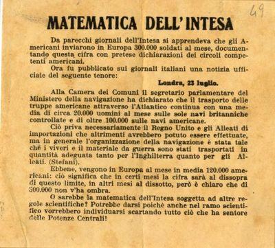 Matematica dell'Intesa