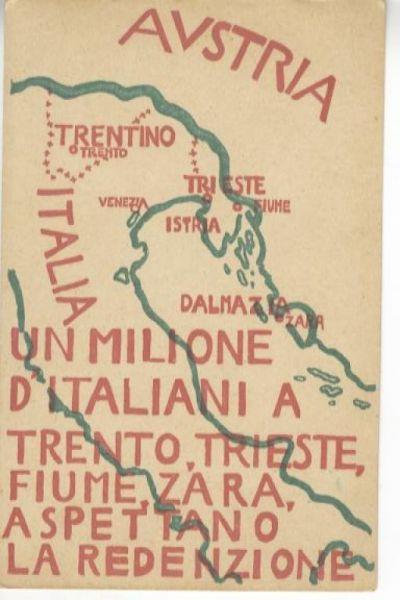 Un milione d'italiani a Trento, Trieste, Fiume, Zara, aspettano la redenzione