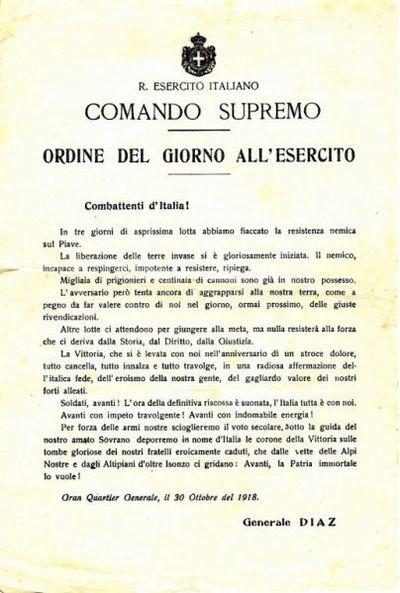 Ordine del giorno all'Esercito / R. Esercito italiano, Comando supremo