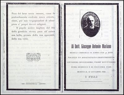 Al Dott. Giuseppe Antonio Mariano
