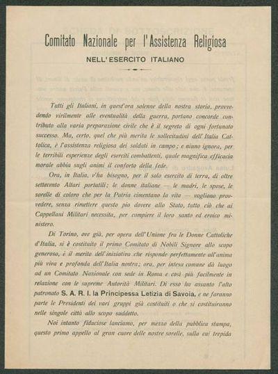 Comitato Nazionale per l'assistenza religiosa nell'esercito italiano