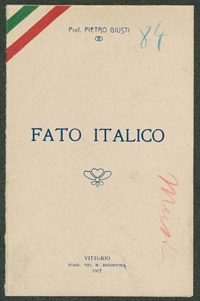 Fato italico  / Pietro Giusti