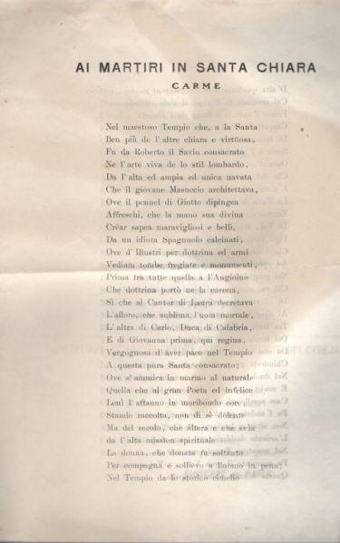 Ai Martiri in Santa Chiara : Carme / Giuseppe De Paola