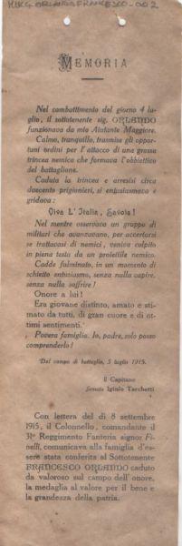 Memoria / Il Capitano Iginio Tarchetti