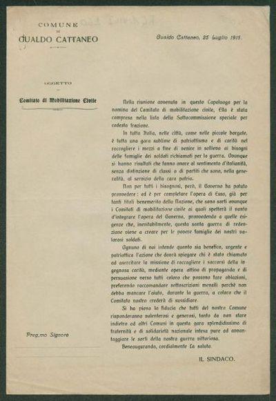 Comitato di mobilitazione civile  / Comune di Gualdo Cattaneo
