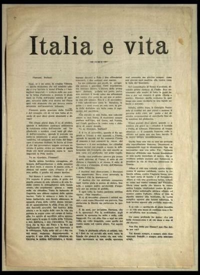 Italia e vita  / Gabriele d'Annunzio