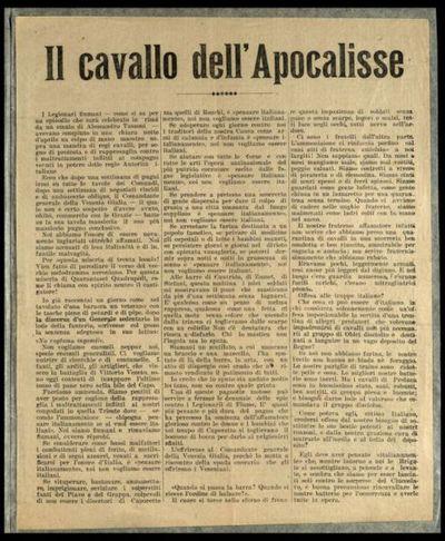 Il cavallo dell'Apocalisse  / Gabriele d'Annunzio