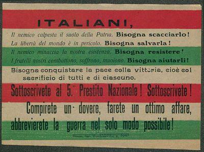 Italiani, il nemico calpesta il suolo della Patria, bisogna scacciarlo!