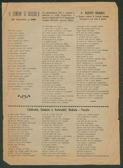 Il comune di Sassuolo che requisisse le donne  / Uguzzoni Emiilio