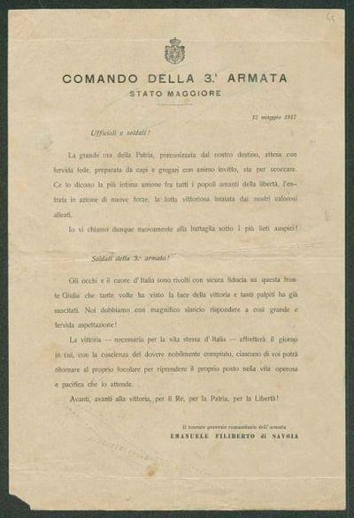 12 maggio 1917  / Comando della 3. armata, Stato maggiore
