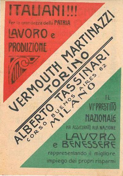 Italiani!!! Per la grandezza della patria lavoro e produzione il 6. prestito nazionale ha assicurato alla nazione lavoro e benessere rappresentando il migliore impiego dei propri risparmi