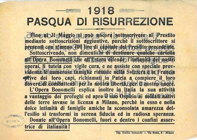 Pasqua di risurrezione : 1918