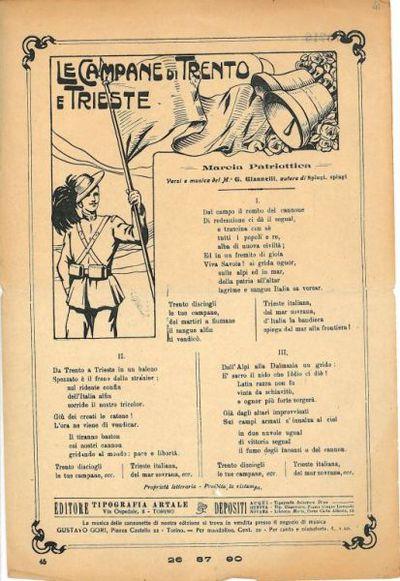Le campane di Trento e Trieste : marcia patriottica / versi e musica del m. G. Giannelli