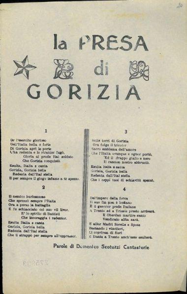 La presa di Gorizia / parole di Domenico Scotuzzi